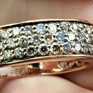 LeVian 14kt Rose Gold and Diamonds Ring 8.25